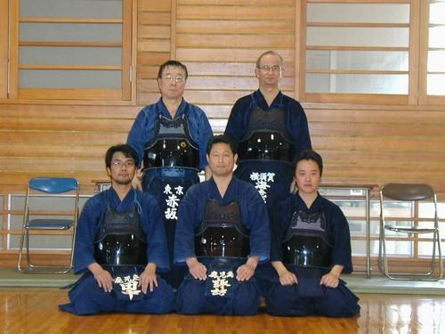 諏訪先生、田中先生、宮崎先生と老頭児二人.JPG